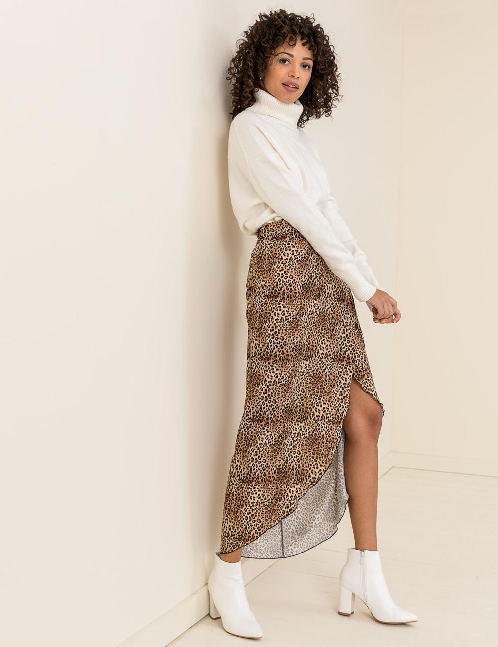 Λεοπάρ τύπωμα φούστα δέσιμο  d12118b5dc2