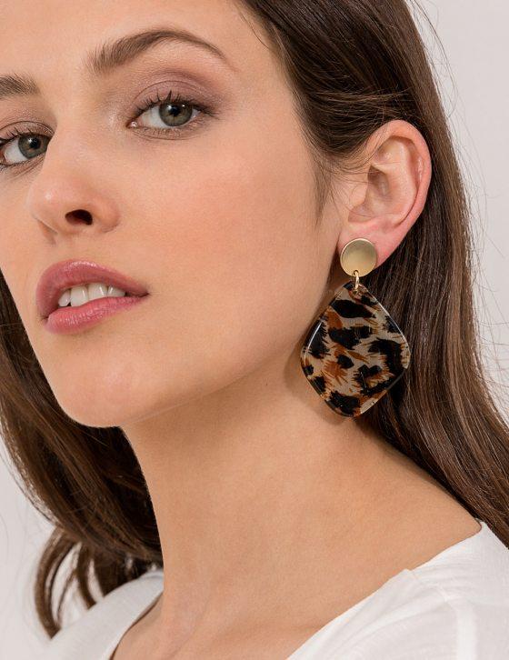 Σκουλαρίκια λεοπάρ