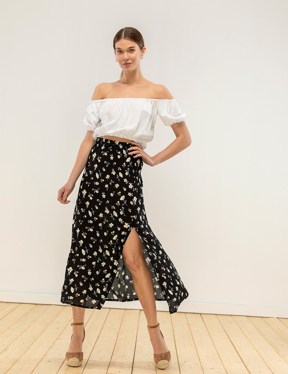 2c21085de95 Φλοράλ φούστα σκίσιμο | Mindyourstyle.gr