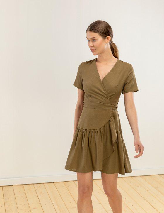 Λινό φόρεμα