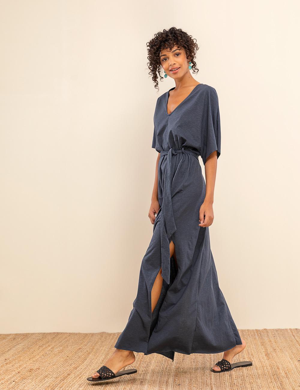 0e9ad587c834 Ζαπονέ maxi φόρεμα