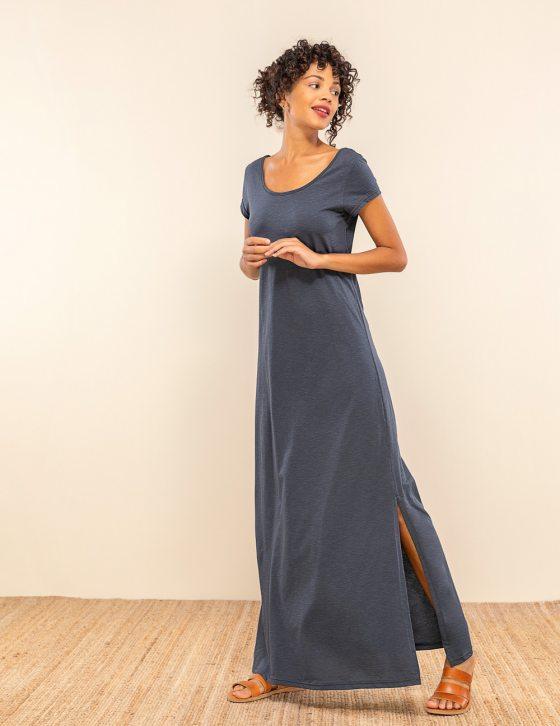 Κοντομάνικο φόρεμα σκισίματα