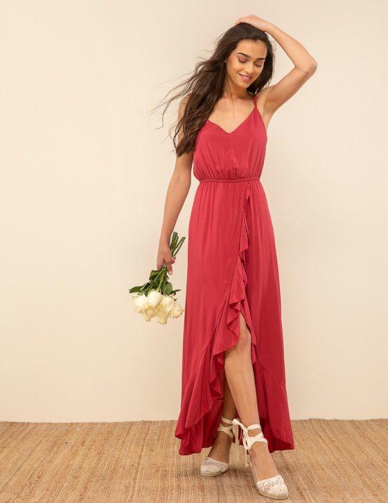 Φόρεμα μακρύ βολάν