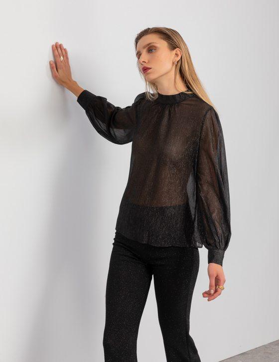 Μεταλλιζέ μπλούζα