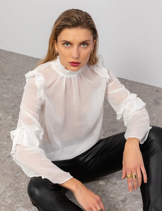 Ημιδιαφανής μπλούζα