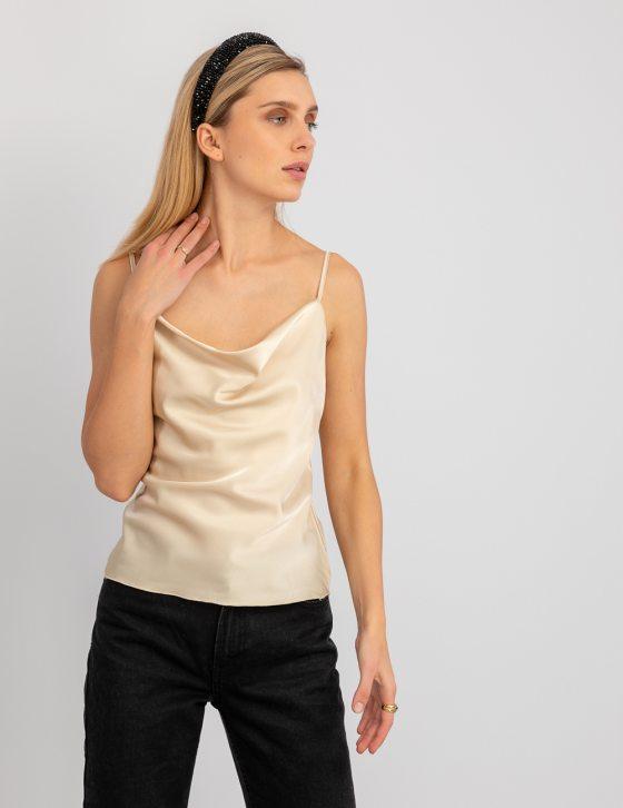 Σατέν μπλούζα