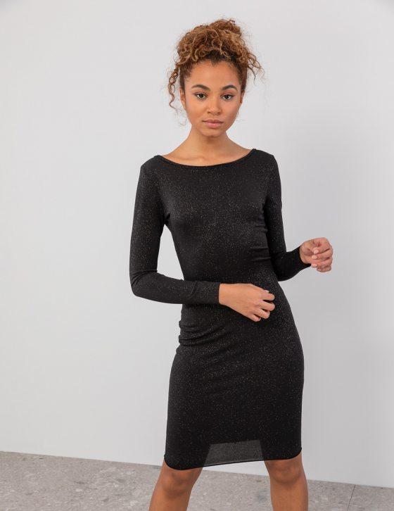 Μεταλλιζέ φόρεμα