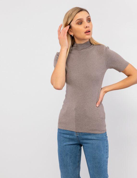 Πλεκτή μπλούζα κοντομάνικη