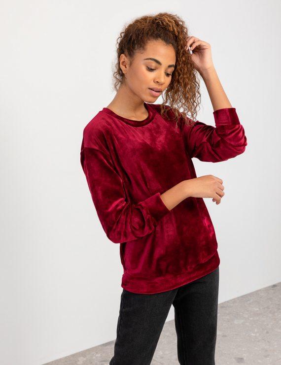 Βελούδινη μπλούζα