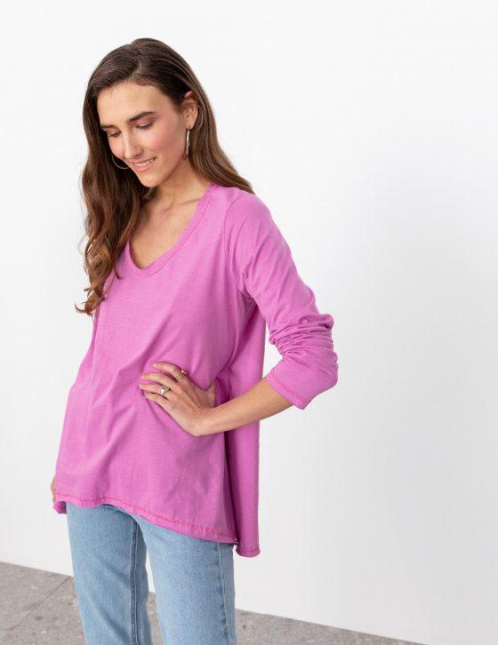 Μακρυμάνικη άνετη μπλούζα